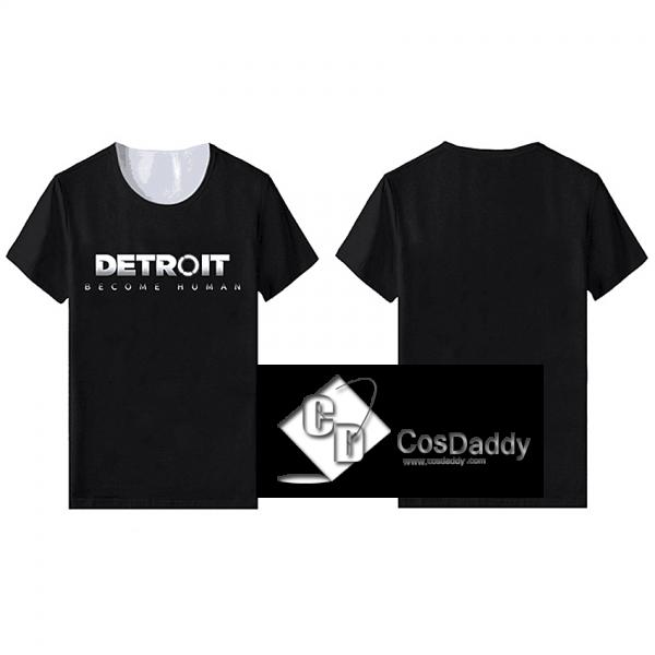 Detroit : Become Human Connor Kara T-shirt Cosplay Costume